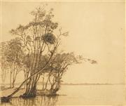Sale 8552 - Lot 2090 - Gerrard Gayfield Shaw (1885 - 1961) - The Bent Tree, Tuggerah 22.5 x 26cm
