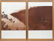 Sale 8771 - Lot 2008 - Peter Hickey (1943 - ) - Evening Middle Harbour, 1981 (diptych) sheet: 75 x 48.5cm, each (overall incl. frame: 84.5 x 107cm)