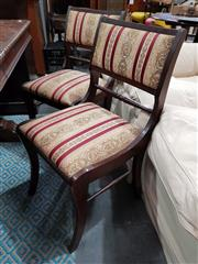 Sale 8787 - Lot 1088 - Set of 4 Timber Framed Dining Chairs