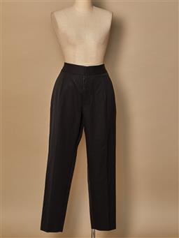 Sale 9093F - Lot 65 - A pair of Yves Saint Laurent block high waisted formal pants size 8
