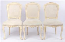 Sale 9135H - Lot 165 - A set of six cane back Louis The XV style dining chairs. 98ncm Height