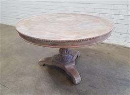 Sale 9134 - Lot 1573 - Rustic round timber pedestal table (h70 x d114cm)