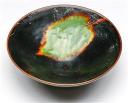 Sale 9173 - Lot 66 - A Chinese potted leaf design bowl (Dia 15cm)