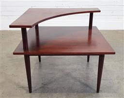 Sale 9188 - Lot 1299 - Possible parker corner tiered coffee table (h60 x d77cm)