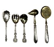 Sale 7937 - Lot 68 - English Hallmarked Sterling Silver Serving Cutlery & Others