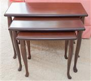 Sale 8346A - Lot 52 - A nest of three timber tables