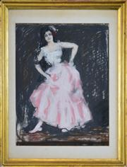 Sale 8401 - Lot 572 - Attributed to Charles Conder (1868 - 1909) - The Spanish Dancer 50 x 40cm
