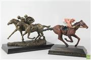 Sale 8603 - Lot 56 - Black Caviar Commemorative Mounted Figure With Another