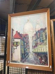 Sale 8707 - Lot 2023 - Hans Selke - Town Scene, Florence oil on board, 66 x 52.5cm, signed lower left
