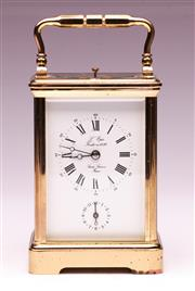 Sale 9081 - Lot 65 - A Cased French LEpée Carriage Clock (H15cm)