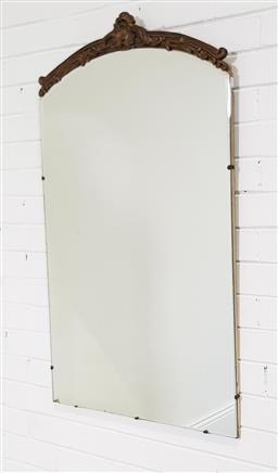 Sale 9210 - Lot 1034 - Early timber top mirror (110 x 66cm)