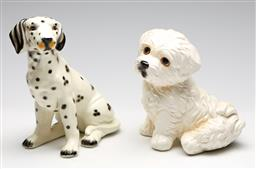 Sale 9253 - Lot 66 - A ceramic dalmation (H:22cm) together with a Maltese Terrier example