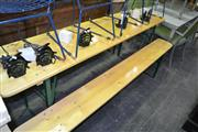 Sale 8093 - Lot 1440 - Bavarian Beer Hall Table And Two Benches