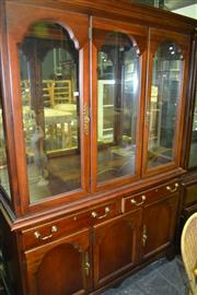 Sale 8093 - Lot 1473 - Timber Buffet & Hutch w Glass Doors & Cabinet Base (061468, 063416)