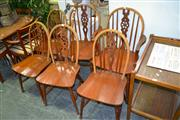 Sale 8117 - Lot 987 - Set of 6 Arched Back Chairs inc 2 Carvers