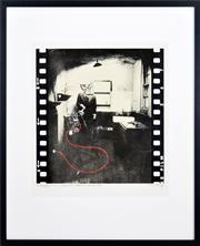 Sale 8358 - Lot 588 - Brett Whiteley (1939 - 1992) - 10 Rillington Place, WWII (Still from a proposed 16mm film) 59 x 55.5cm