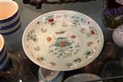 Sale 8362 - Lot 209 - Chinese Polychrome Chicks Plate; marks to base, Diameter 20cm