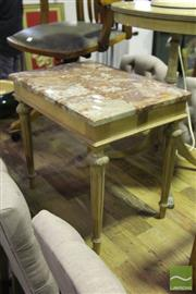 Sale 8499 - Lot 1099 - Marble Top Side Table