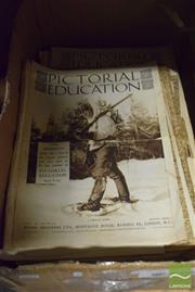 Sale 8530 - Lot 2214 - Box of Pictorial Education Magazines 20s