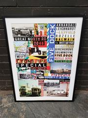Sale 8961 - Lot 2060 - A Vintage Style Poster of Historic Inner West NSW, 70 x 92cm (frame)