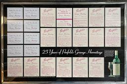 Sale 9173W - Lot 716 - Penfolds 25 Years of Penfolds Grange Hermitage Poster, framed