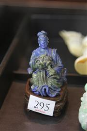 Sale 8244 - Lot 57 - Lapis Lazuli Carved Figure of a Lady