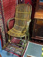 Sale 8566 - Lot 1343 - Cane Rocking Chair