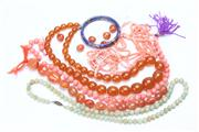 Sale 8670 - Lot 201 - Group of Beaded Necklaces And A Bangle