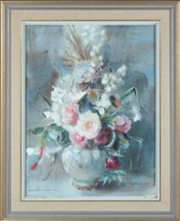 Sale 8735 - Lot 86 - Margaret Coen, Still life, Mixed bunch, signed lower left, dated 1972, watercolour, measures 70 x 53cm