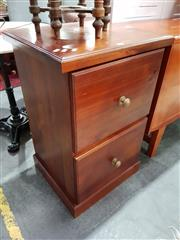 Sale 8740 - Lot 1114 - Timber Two Drawer Filing Cabinet