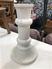 Sale 8795 - Lot 1004 - Stone Two Piece Candlestick (H: 35cm)