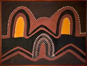 Sale 8810A - Lot 5006 - Hector Jandany (c1927 - 2006) - Paarnji - The Spider, 1993  60 x 80cm (framed and ready to hang)