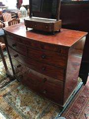 Sale 8882 - Lot 1036 - Victorian Mahogany Bow Front Chest of Five Drawers, on turned feet