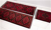 Sale 9023H - Lot 54 - Three near matching Persian runners in wool with red and black tones. 145x 52cm