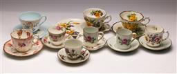 Sale 9119 - Lot 69 - A collection of duos inc Royal Albert, Royal Crown Derby, Shelley and others