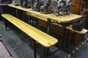 Sale 8099 - Lot 855 - Barvarian Beer Hall Table And Two Benches