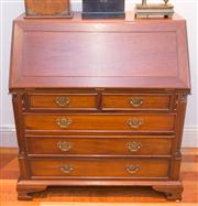 Sale 8308A - Lot 112 - A Georgian design solid mahogany bureau chest. The fall front opening to reveal a well fitted interior, the centre with 3 concealed...