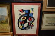 Sale 8410T - Lot 2069 - Joan Miro Poster