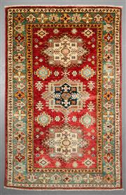 Sale 8539C - Lot 90 - Afghan Super Kazak 152cm x 100cm