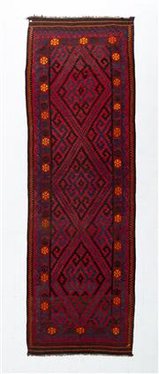 Sale 8760C - Lot 45 - An Afghan Hand Woven Kilim Natural Dyes 100% Wool, 461 x 150cm