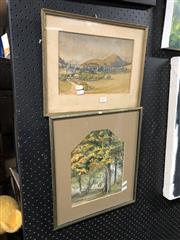 Sale 8819 - Lot 2075 - Pair of Watercolours - One B. Bradley