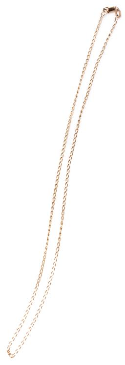 Sale 9156J - Lot 354 - A 9CT GOLD CHAIN; twisted long curb links to a parrot clasp, length 40cm, wt. 1.77g