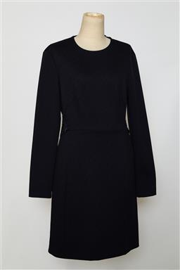 Sale 9095F - Lot 38 - A Sandro navy long sleeved 3/4 dress with floral pattern to back, size 12.