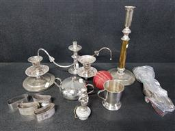 Sale 9254 - Lot 2156 - Collection of Plated Wares incl Cutlery Plus Cricket Ball & Match Boxes