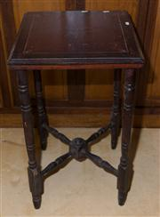 Sale 7981B - Lot 91 - Square Form Occasional Table on Turned Legs