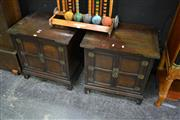 Sale 8087 - Lot 1007 - Pair of Oriental Bedside Cabinets