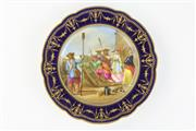 Sale 8429 - Lot 96 - Continental Handpainted Cabinet Plate