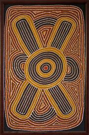 Sale 8810A - Lot 5029 - Lindsay Bird Mpetyane (c1935 - )  - Travels to Ceremonial Site, 1992  88 x 56cm (framed and ready to hang)
