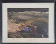 Sale 8973 - Lot 2031 - Allan Hansen Landscape 1979 watercolour and gouache, 43 x 53cm (frame), signed and dated lower left