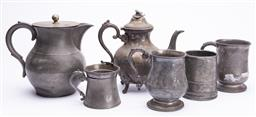 Sale 9185E - Lot 189 - A collection of pewter and others wares
